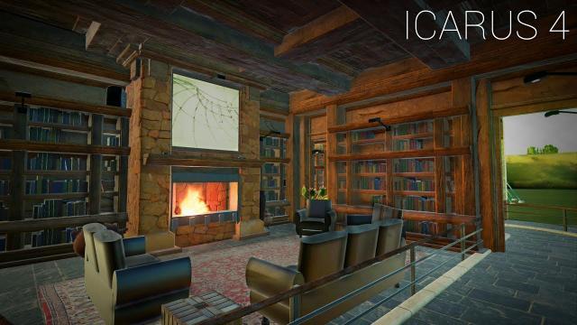 """Planet Coaster - Icarus [PART 4] """"Study & Library Queue Area"""""""