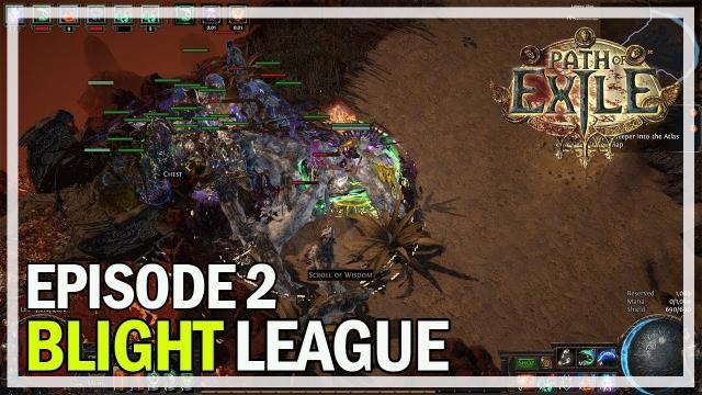 Path of Exile - Blight League Necromancer Let's Play Part 2 - Maps