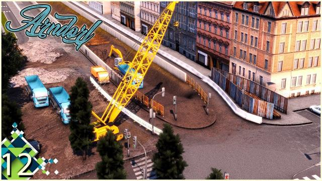Cities Skylines: ARNDORF - Tram tracks construction and the Mayor's Plans #12