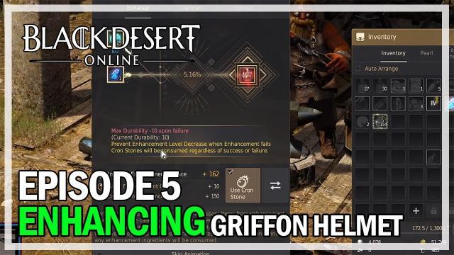 Enhancing Griffon Helm to PEN - Episode 5 - Black Desert Online