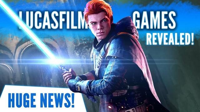 HUGE NEWS: Lucasfilm Games Officially Revealed! New Sizzle Reel Shows Battlefront and More!