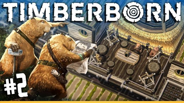 Building Beaver HOUSES | Timberborn (#2)