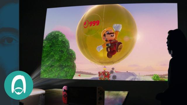 """Playing a Nintendo Switch on a HUGE 120"""" Screen"""