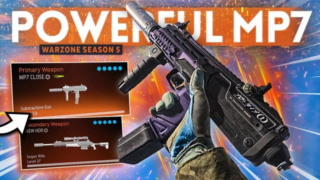 WARZONE: This MP7 + HDR Loadout is REALLY POWERFUL in Solos! (Best Class Setup)