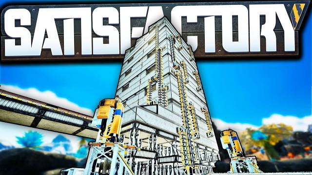 Building the first WORLD EATER Factory - Satisfactory Modded Let's Play Ep 12