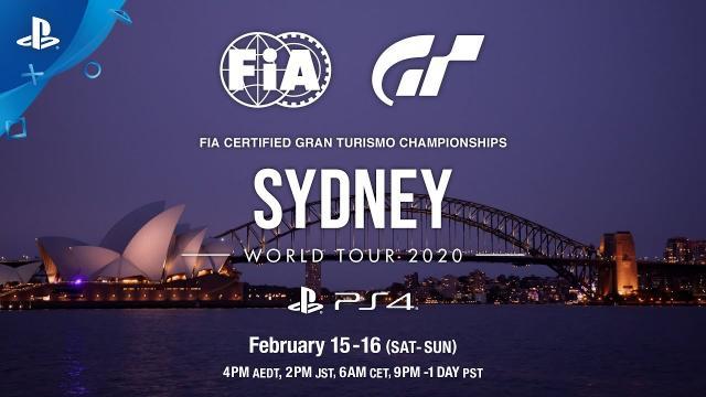 FIA Gran Turismo Championships 2020 Sydney Announcement Trailer | PS4