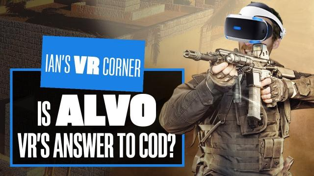Let's Play Alvo PSVR PS5 Gameplay - COULD THIS BE VR'S CALL OF DUTY?
