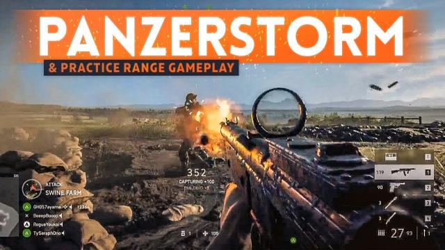 BATTLEFIELD 5 PANZERSTORM MAP GAMEPLAY & Practice Range First Look! (BF5 New Content)
