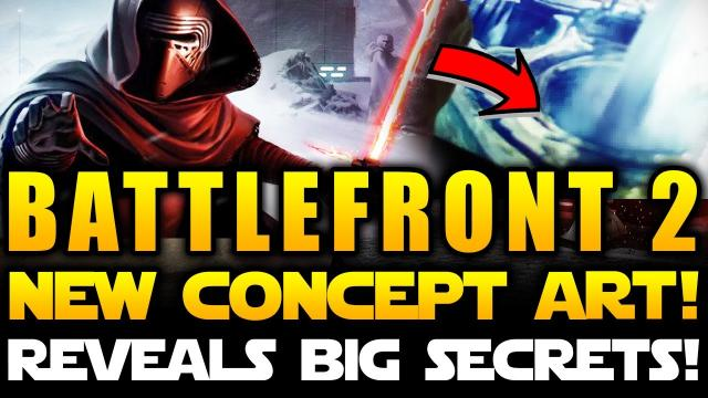 Star Wars Battlefront 2 (2017) - NEW EPIC CONCEPT ART! Huge Geysers! Rappelling Resistance Fighters!