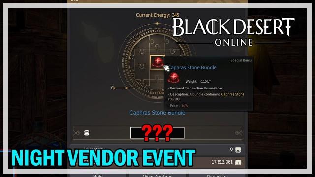 Night Vendor Rolling Event - Black Desert Online