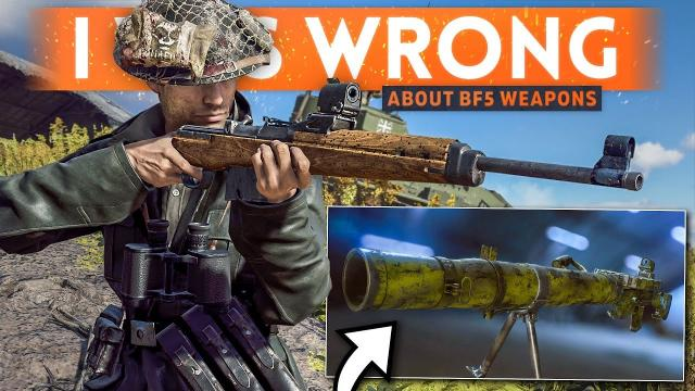 I Was WRONG About Battlefield 5's Weapon Line-Up...