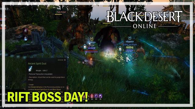 Easy Cron Stones Rift Boss Day - Black Desert Online