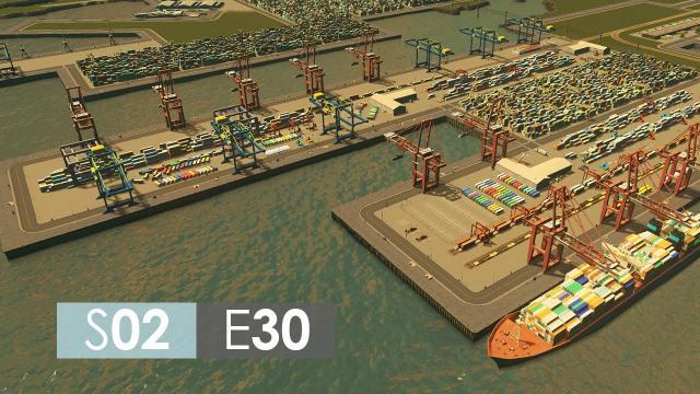 Cities: Skylines Season 2   Episode 30   Harbor detailing!
