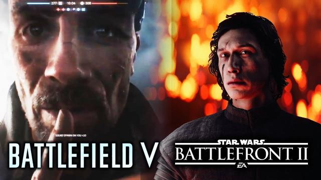DICE's Next Big Game OFFICIALLY TEASED!  Battlefield 5 and Star Wars Battlefront 2 Season 2 Update!