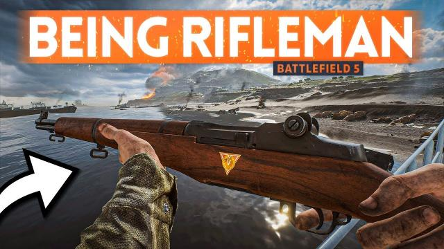 Being An AMERICAN RIFLEMAN In Battlefield 5 Pacific ????️