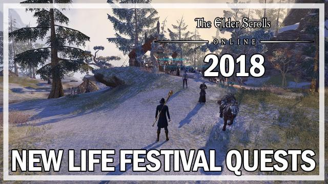 The Elder Scrolls Online - All New Life Festival Quests 2018