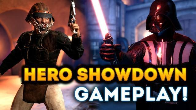INTENSE HERO SHOWDOWN GAMEPLAY on Jabba's Palace! - Star Wars Battlefront 2 Han Solo DLC