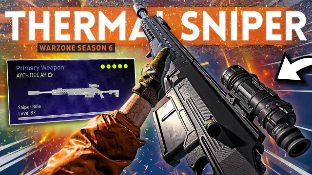 I tried a THERMAL HDR SNIPER Class Setup in Warzone and it was TRULY AMAZING!