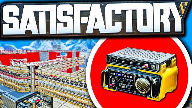 It's PERFECT; Radio Control Unit Production Complete! - Satisfactory Early Access Gameplay Ep 66