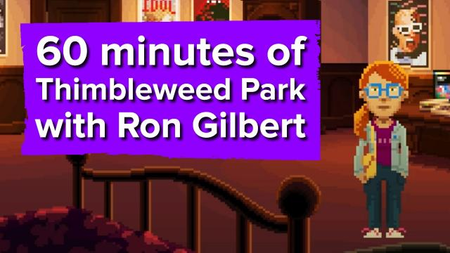 60 minutes of Thimbleweed Park Gameplay (with Ron Gilbert!)