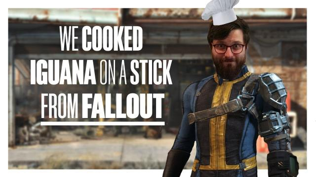 We cooked Iguana on a Stick from Fallout (sort of)