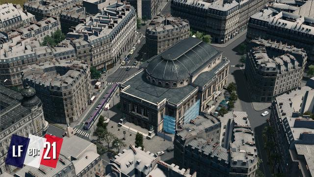 Cities Skylines: Little France by Two Dollars Twenty - The Grand Theater and district expansion #21