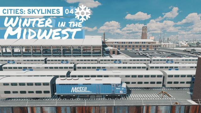 Regional Rail - Cities Skylines: Winter in the Midwest 04