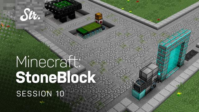 Minecraft: StoneBlock — Mining Dimension Detailing (w/ Jack Pattillo) — Session 10