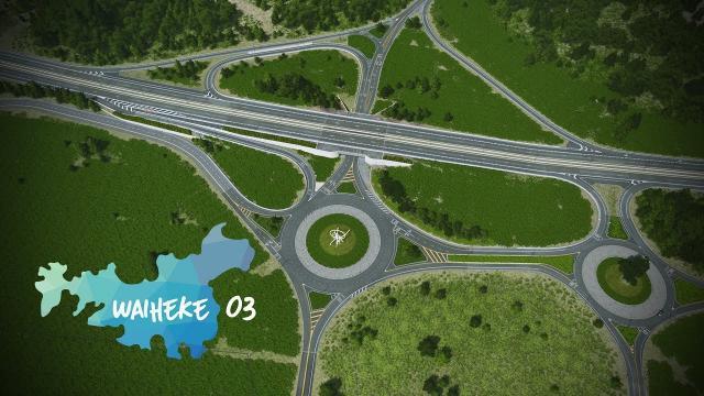 Cities: Skylines | Waiheke - 03 - Realistic Interchange [Showcase]