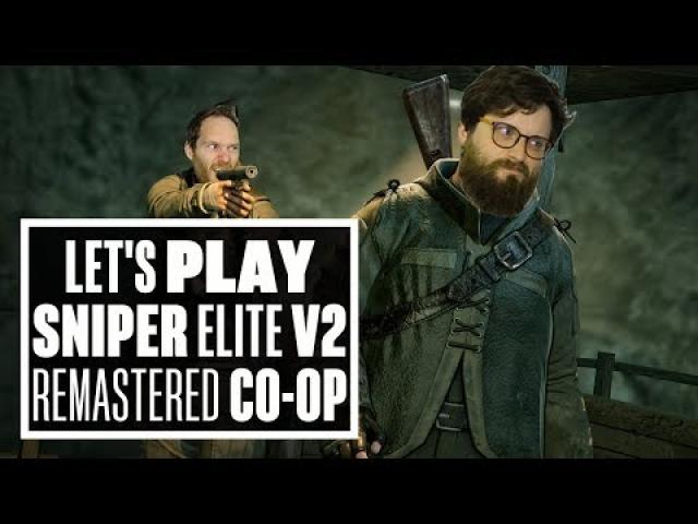 Let's Play Sniper Elite V2 Remastered - JOHNNY AND IAN GO FOR THE NUTS!