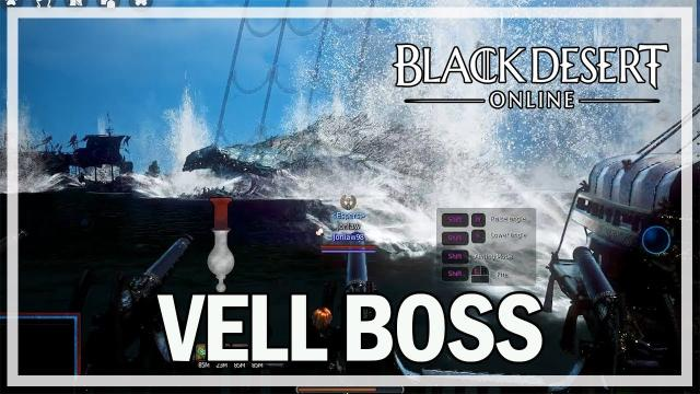 Black Desert Online - Weekly Vell Boss Gameplay - Dark Knight