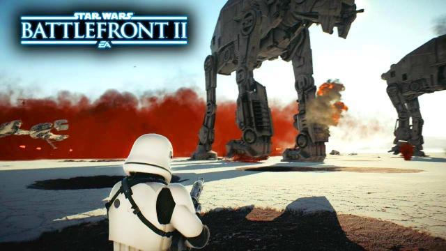 Star Wars Battlefront 2 The Last Jedi DLC - Crait Galactic Assault Gameplay! Finn & Captain Phasma!