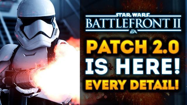 Star Wars Battlefront 2 - Patch 2.0 FULL DETAILS! Jetpack Cargo, Day Time Endor, Nerfs and Buffs!