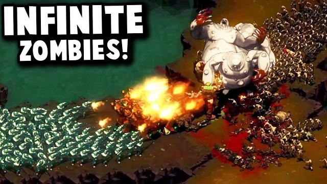How do we Defeat an INFINITE Zombie Wave?! - They Are Billions Custom Map Gameplay