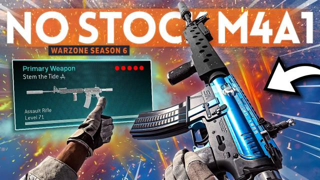 Returning to the M4 NO STOCK Class Setup in Warzone! (Best Iron Sights)