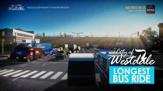 Cities Skylines: Longest Bus Route Ever in Westdale City - First Person View [2K]