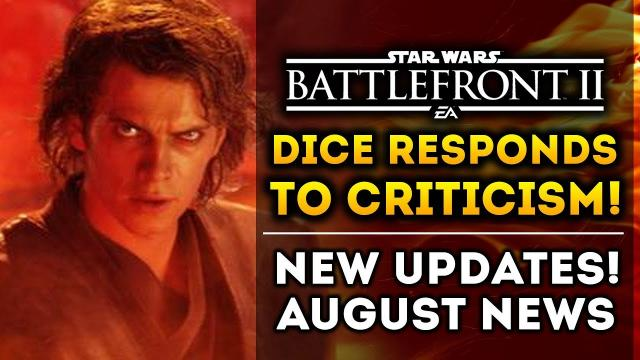 DICE Responds to New Criticism!  August Updates!  New Roadmap Coming! Star Wars Battlefront 2