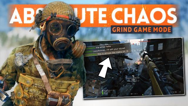 """It's Absolute Chaos... AND I LOVE IT! - Battlefield 5 New """"Grind"""" Game Mode Gameplay"""