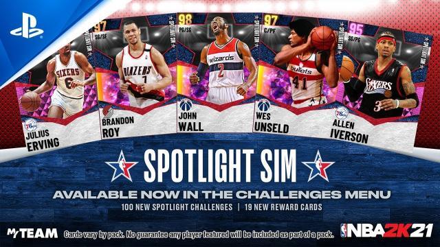 NBA 2K21 - MyTEAM: All-Star Spotlight Sim | PS5, PS4