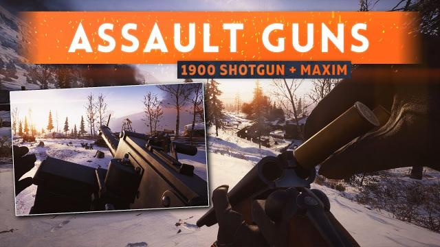 ► NEW ASSAULT GUNS: Double Barrel Shotgun + Maxim SMG! - Battlefield 1 In The Name Of The Tsar DLC