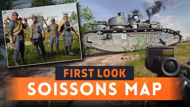 ► SOISSONS FIRST LOOK! - Battlefield 1 They Shall Not Pass DLC Gameplay
