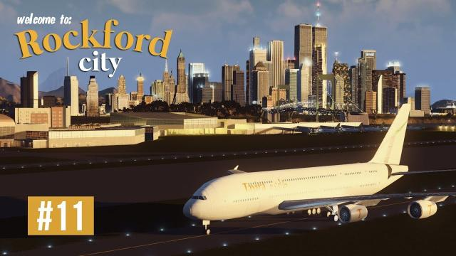 Cities Skylines: Rockford City - EP11 - International Airport layout!