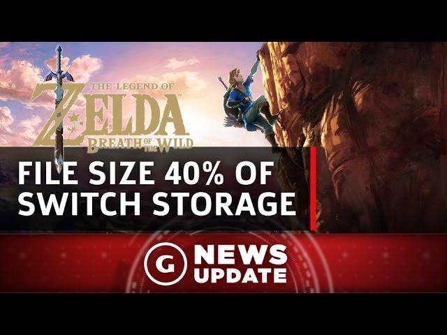 Zelda: Breath of the Wild File Size Is 40% of Switch's Storage