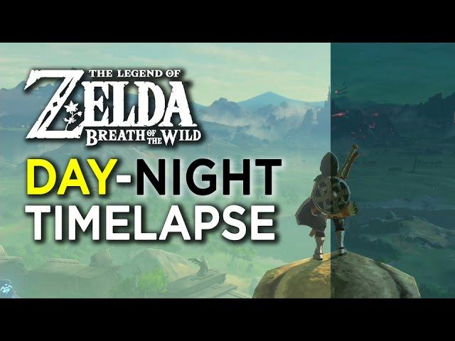Zelda: Breath Of The Wild - Day Night Time-Lapse