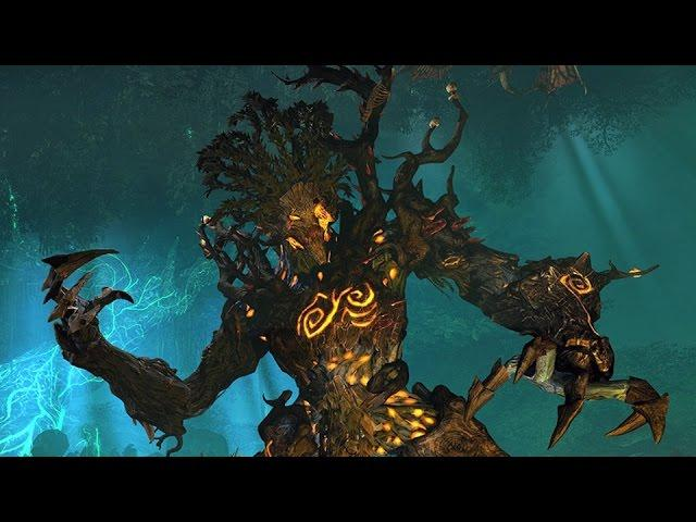 Total War: Warhammer - Wood Elves vs. Beastmen Gameplay