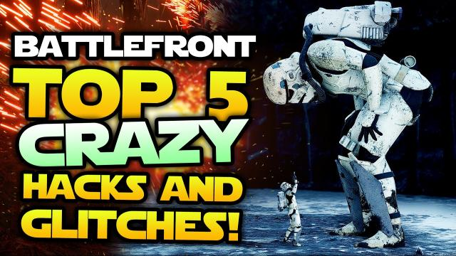 Star Wars Battlefront - Top 5 Funny Glitches and Insane Hacks! (Funny Moments)
