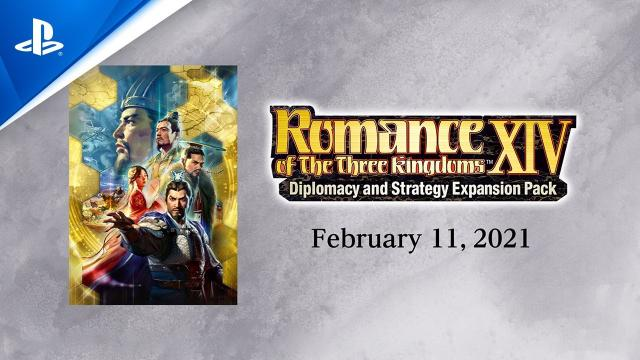 Romance of the Three Kingdoms XIV - Diplomacy and Strategy Expansion Pack Trailer | PS4