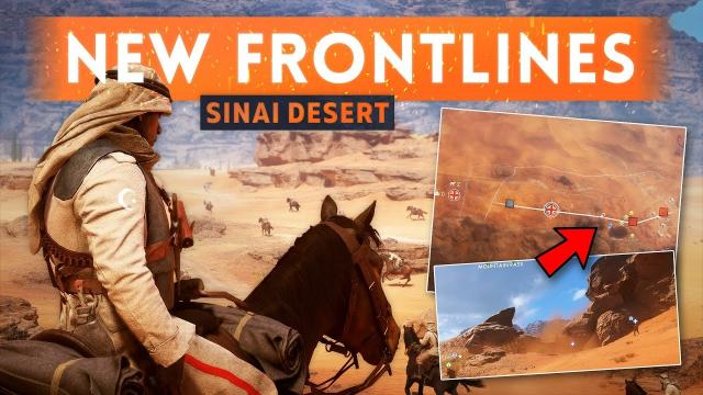 ► NEW FRONTLINES MAP: SINAI DESERT... But It Needs Work! - Battlefield 1 New FREE Content