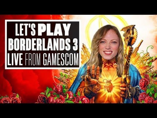 Let's Play Borderlands 3 Gameplay - AOIFE LOOTS AND SHOOT LIVE FROM GAMESCOM!