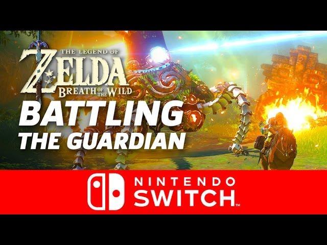Guardian Battle - Legend of Zelda: Breath of the Wild Gameplay